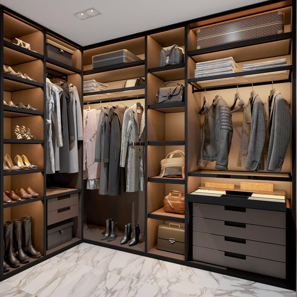 Какая гардеробная подойдет для спальни